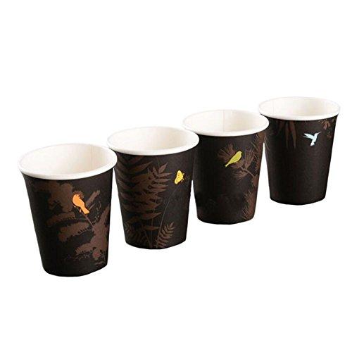 100 PCS Disposable Coffee Paper Cup 8 oz Paper Cup Random Pattern