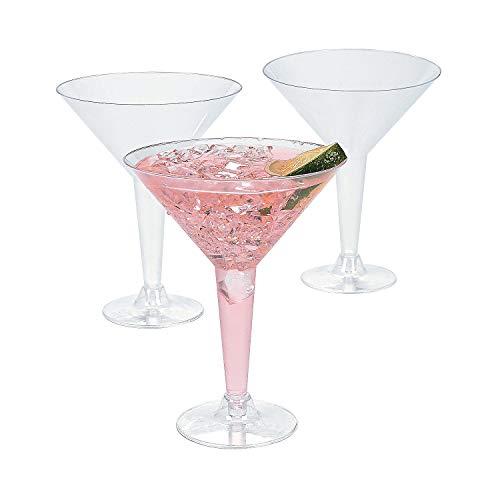 Plastic Martini Glasses bulk set of 20 Party Supplies