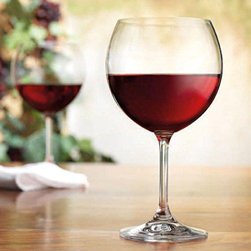 Crystalex Bohemian Crystal 16 Oz Vineyard Vintage Red Wine Goblet Glasses Set of 4
