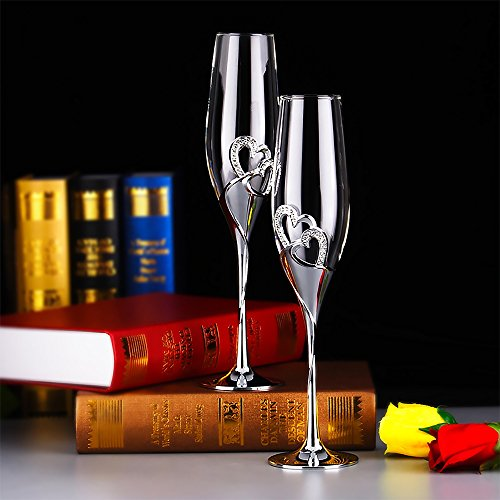 2 Pieces As set Personalized Champagne Glasses For Wedding Crystal Champagne Glasses  Wedding Gifts  Wine Glasses  Bubble Goblet Creative Set