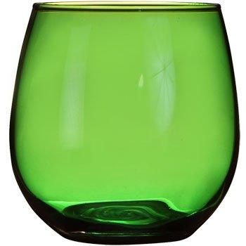 Emerald Green Stemless Wine  Juice Water Glass