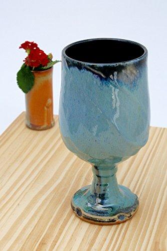 Handmade Crystal Blue Green Wine Glass 09 Ceramic Wine Glasses Ceramic Wine Chalice Handmade Wine Goblets