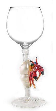 Hermit Crab Wine Hand Blown Wine Glass Sculpture from Yurana Designs - W195