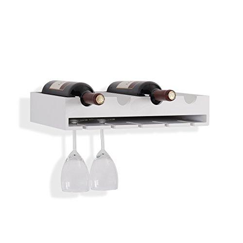 Danya B 4 Laying Wine Bottle Wineglass Wall Holder