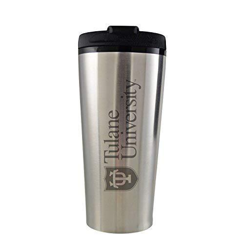 LXG Inc Tulane University -16 oz Travel Mug Tumbler-Silver