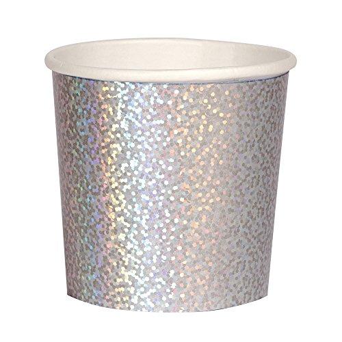 Meri Meri Silver Sparkle Tumbler Cups - Pack of 16