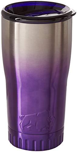 Silver Buffalo NL111495 Ombrà Double Walled Stainless Steel Travel Tumbler 20-Ounces Purple
