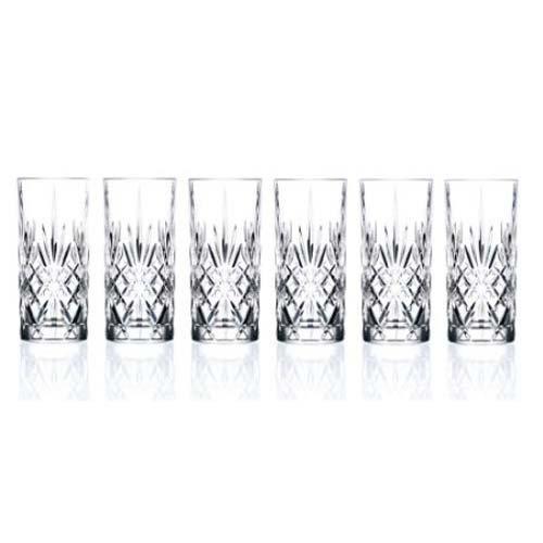 Lorenzo Import 238510 RCR Crystal Highball Glass set of 6
