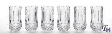 Studio Silversmiths Medea Collection Crystal Highball Glasses set of 6
