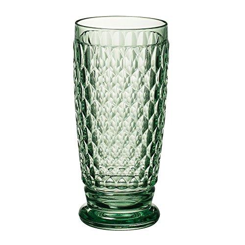 Villeroy Boch Boston Green Crystal Highball Glasses Set of 4