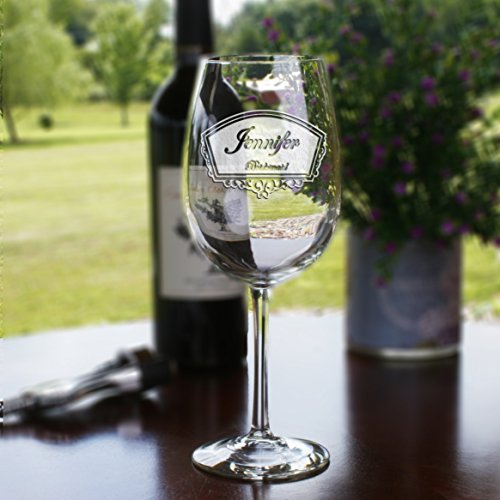 Engraved Bridesmaid Bridal Party Wine Glass Gift Ideas Set of 6