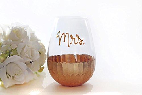 Personalized Stemless Wine Glasses Custom name Bridesmaid Wine Glasses Rose gold or Gold Wine Glasses