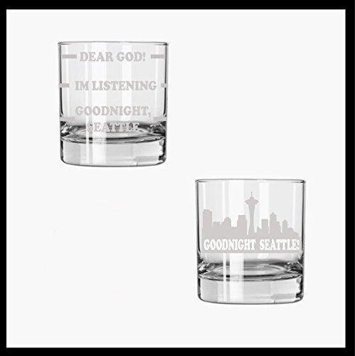 Frasier inspired etched rocks glass set of 2 - Frasier fan gift Frasier TV Show