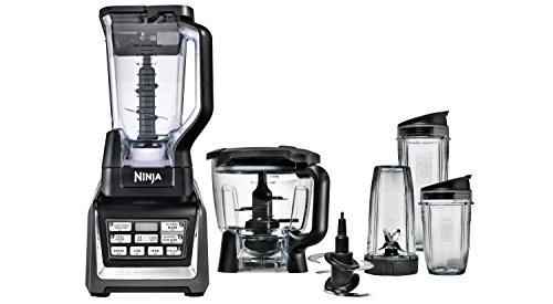 Nutri Ninja BlenderFood Processor with Auto-iQ 1200-Watt Base 72oz Pitcher 64oz Processor Bowl 18 24 and 32oz Cups and Prep Blades BL682