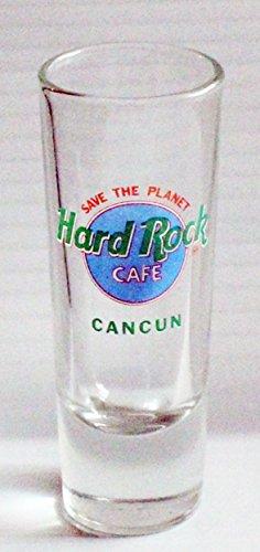 Hard Rock Cafe Cancun Mexico Pastel 2oz Promotional Shot Glass