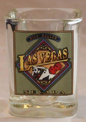 High Roller Las Vegas Square Promotional Shot Glass