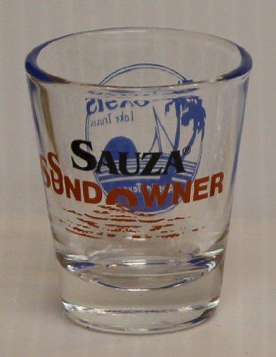 Sauza Conmemorativo Tequila 1oz Orange Sundowner Oasis Lake Travis Austin Texas Promotional Shot Glass
