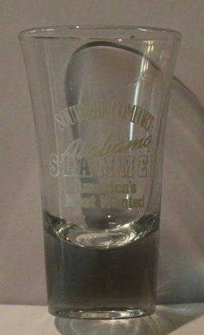 Southern Comfort Alabama Slammer Americas Most Wanted 2oz Promotional Shot Glass
