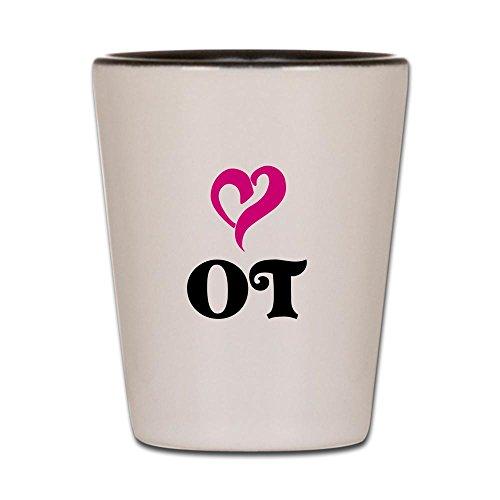 CafePress - OT LOVE Shot Glass - Shot Glass Unique and Funny Shot Glass