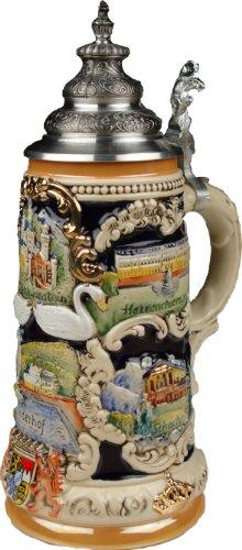 Beer Steins by King - Bavarian Castle Full Relief German Beer Stein Beer Mug 075l Limited Edition