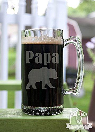 Papa Bear Stein Beer Mug Gift