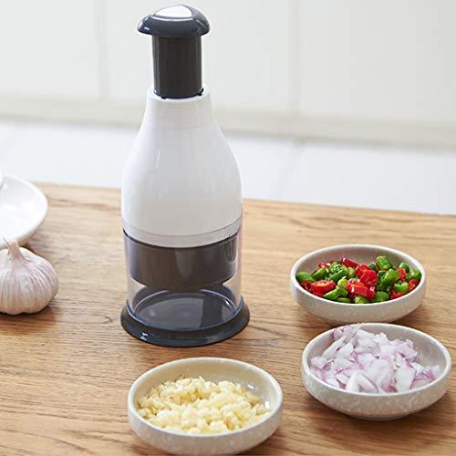 WensLTD Multifunctional Garlic PressHand Chopper Pressing Cutter Vegetable Food Garlic Peeler Dicer Mincer Portable Garlic Smasher for Home Travel