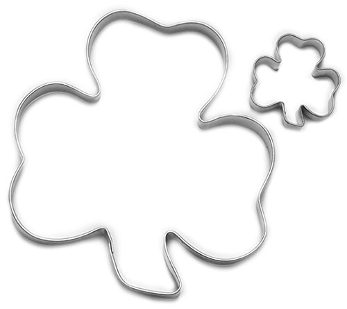 Cybrtrayd 000RM1160-1560 R&M ParentChild Cookie Cutter Set 3-Inch and 1 to 15-Inch Shamrock Tin