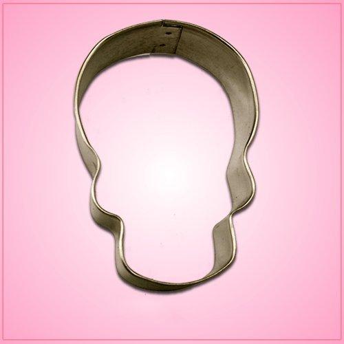 Skull Cookie Cutter 4 inch-aluminum