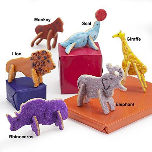 Animal Cracker 3D Cookie Cutter Set Elephant Cookie Cutter Giraffe Cookie Cutter Brownie Cutter Cartoon Animal Cookie Cutter Set