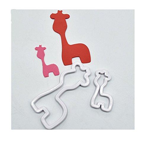 Edtoy 2PCS Giraffe Cookie Cutter Set DIY Cake Fondant Decorating Mold