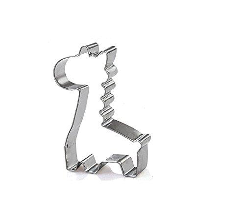 WEIYI Creative Cartoon Giraffe Cookie Cutter Stainless Steel Cake Mould Silver