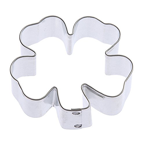 Clover Cookie Cutter 275 in - Foose Cookie Cutters - US Tin Plate Steel - B8