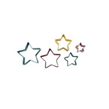 Kitchen Collection 5 Piece Star Cookie Cutter Set 61125