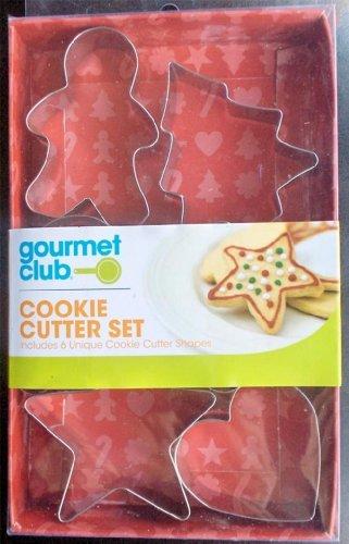 Gourmet Club - 6 METAL COOKIE CUTTER SET - Unique Cookie Cutter Shapes