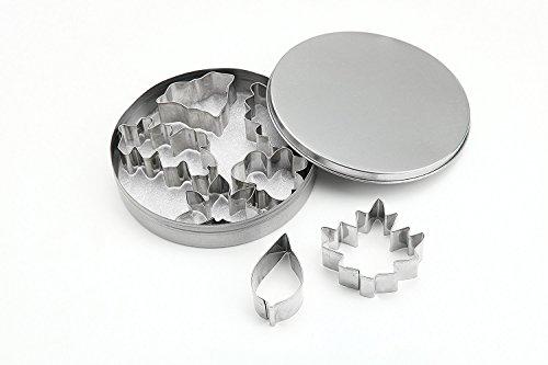 ShengHai 7-Piece Leaf Cookie Cutter Set Metal Cookie Cutter Set of 7