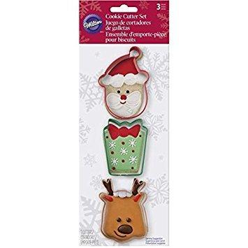 Wilton 2308-5070 3-Piece Christmas Polar Metal Cookie Cutter Set Santa