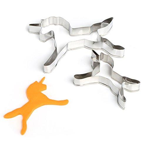 GWHOLE Unicorn Animal Mini Cookie Cutter Set for Kids Fondant Holiday Set of 2