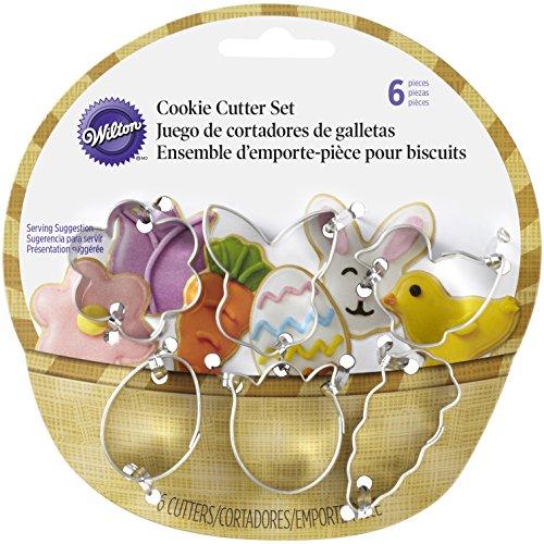 Wilton 2308-0551 6-Piece Easter Cookie Cutter Set Mini Assorted