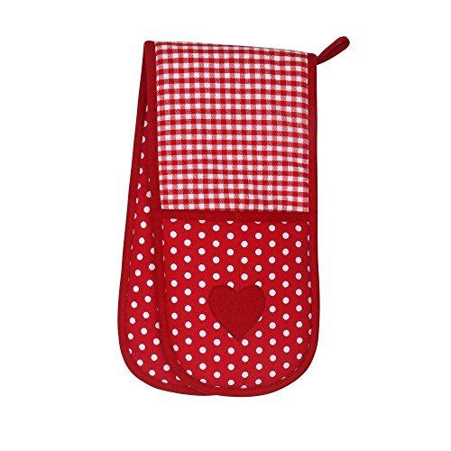 Dexam Vintage Home Claret Red Double Oven Glove