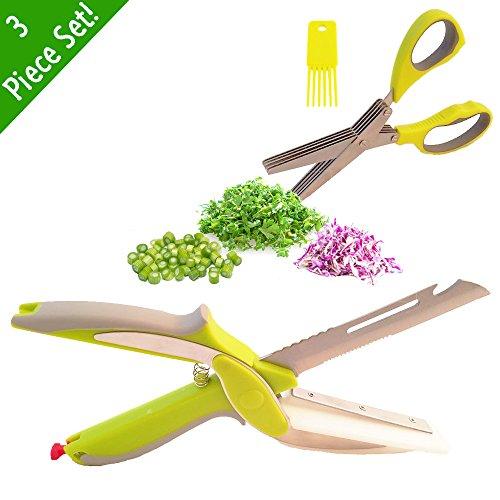 6 in 1 Smart Cutter Clever Cutter Peeler Bottle Opener Scaler Slicer 2-in-1 food Chopper Herb Scissor Scissor Cleaner Bundle