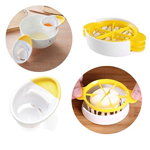 Kitchen Gadget Egg Yolk Separator and Egg Cutter Split Device Food Divider SlicerNecessary Tools and Good Assistant for Kitchen