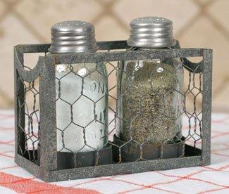 Chicken Wire Salt and Pepper Holder