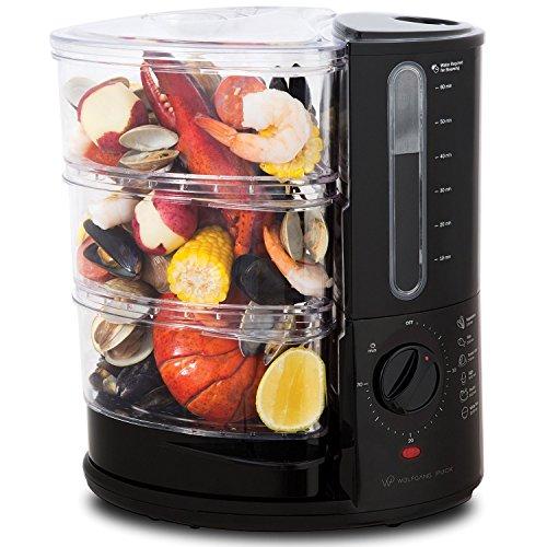 Wolfgang Puck 1400 Watt BPA-Free 3-Tier Rapid Food Steamer - Essential Series
