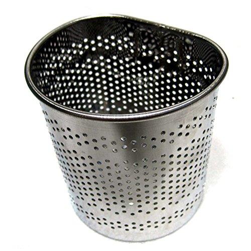 Stainless Steel Perforated Half-Circle Cutlery Holder Hook Type Sink Basket Silver