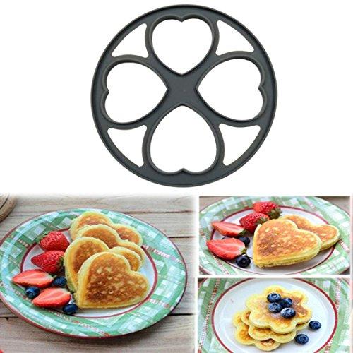 Remiel Store 4 Shapes Non Stick Egg Omelette Maker Flip Pan Breakfast Tools Pancake 23x23x2cm Gray