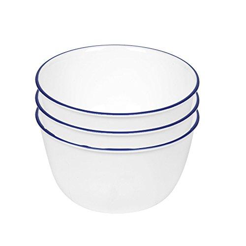 Corelle Livingware 28-Ounce Super SoupCereal Bowl Navy Blue 3 Bowls