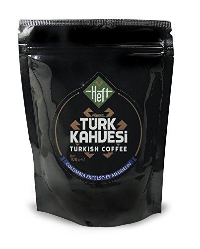 Heft Premium Roasted Rick Flavor Turkish Coffee Finely ground for Espresso or Traditional Turkish Coffee 352OZ 100Gram