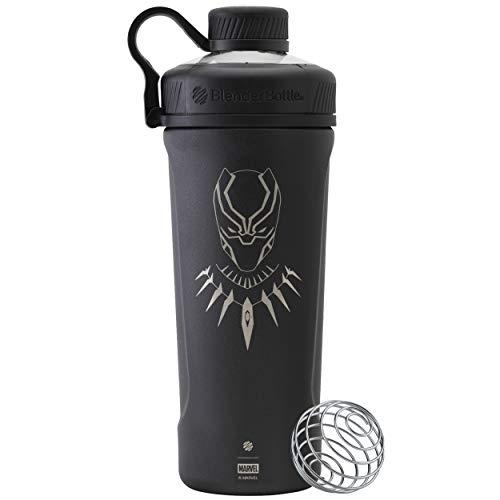 BlenderBottle Marvel Comics Radian Insulated Stainless Steel 26-Ounce Shaker Bottle Black Panther