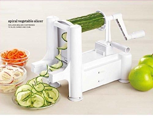 Go Kitchen Hero Spiralizer - Tri Blade Stainless Steel Vegetable Spiralizer