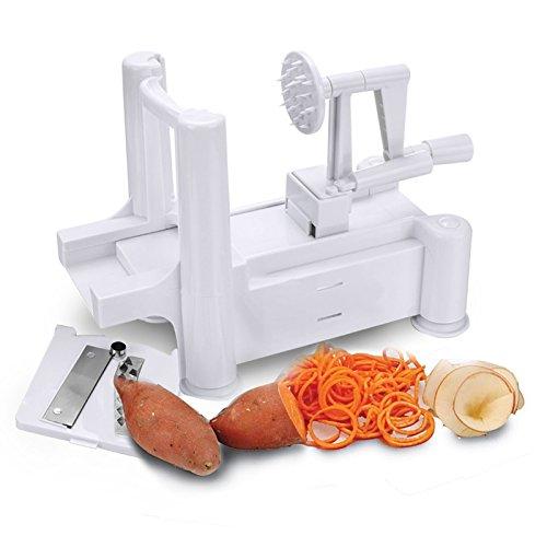 Marketworldcup-Vegetable Tri Blade Spiral Slicer Veggie Kitchen Cutter Tool Spiralizer Chopper